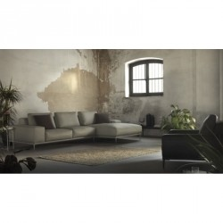 SOFA 3 PLAZAS FIJO MAS CHAISE LONGUE PATAS METAL S9