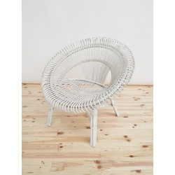 SILLON SUN CHAIR RATTAN BLANCO