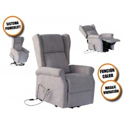 SILLON RELAX ELECTRICO POWERLIFT MASAJE VIBRACION FUNCION CALOR